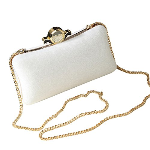 YYW Evening Bag, Poschette giorno donna White