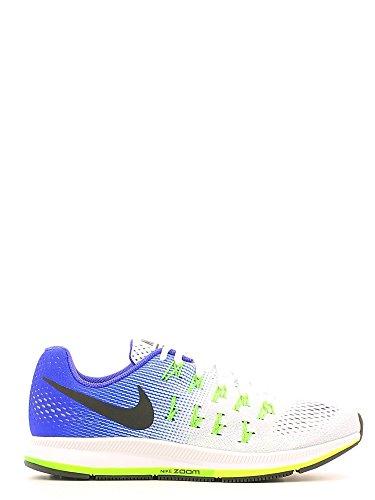 Nike Air Zoom Pegasus 33, Gymnastique homme Blanco (White / Black-Concord-Elctrc Grn)