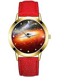47961308ff0d DAYLIN Relojes Hombre Mujer Juveniles Chica Chico Moda Reloj Pulsera de  Cuero Reloj de Cuarzo Analogico