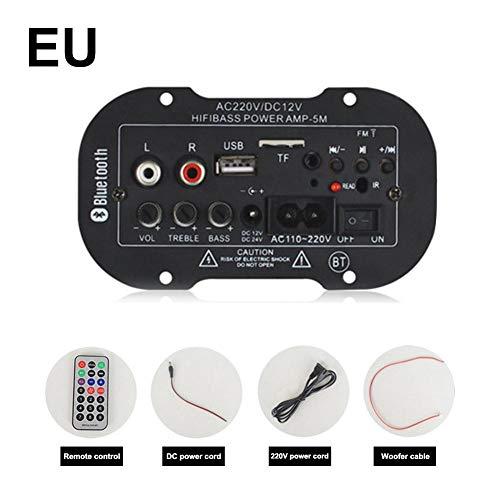 erstärkerplatine Audioverstärker USB-DAC FM-Radio TF-Player Subwoofer Auto-Verstärker Motorrad nach Hause ()