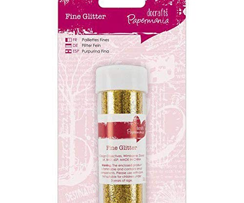 Glitter (25g), Gold, Docrafts, Weihnachten, Weihnachten, Scrapbooking Papier -