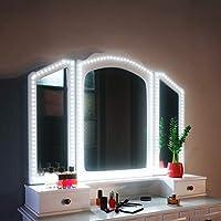 SHINELINE Spiegelleuchte, 4M/13Ft LED Spiegelleuchte 6000k mit Netzteil und Dimmbar für Schminktisch mit Beleuchtung.Schminklicht,Schminklampe (Spiegel Nicht Inbegriffen)