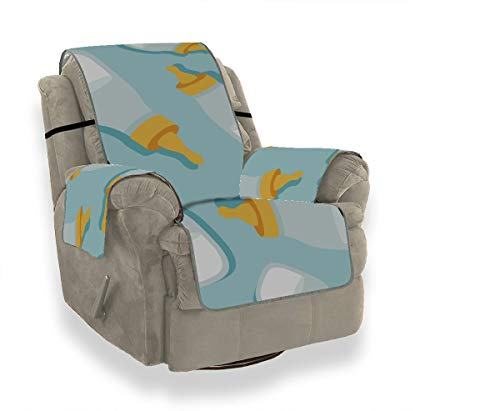 JEOLVP Baby Milchflasche Zarte Lehnstuhl Schonbezüge Sofa Schutzhülle Sofakissen Sitzmöbel Protector Für Haustiere, Kinder, Katzen, Sofa
