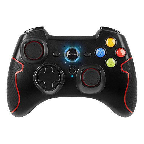 Speedlink Gamepad für PC / Computer und PS3 - Torid Gaming Controller kabellos wireless (2,4 GHz Funktechnik - zuschaltbare Turbofeuerfunktion - X-Input und Direct-Input - Vibrationsfunktion) schwarz Wireless-gaming-controller