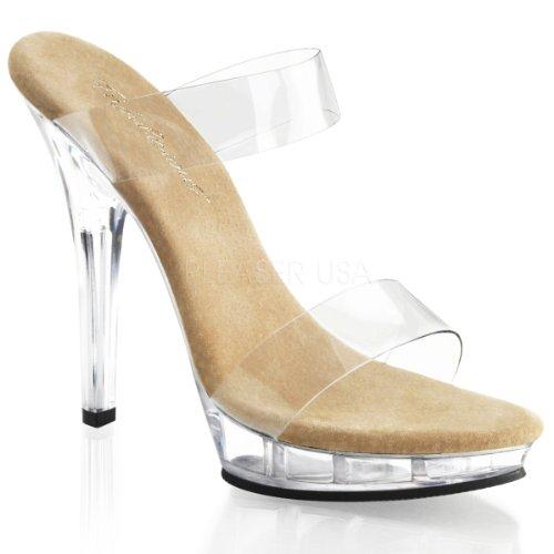 Pleaser Usa Shoes - Lip-102-1 - Clr-Tan/Clr