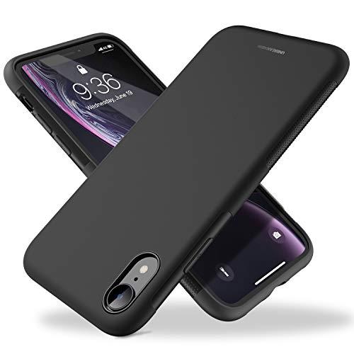 UNBREAKcable iPhone XR Hülle - [Fallschutz, rutschfest] Weiche, mattierte TPU Ultra-dünne Stylische Handyhülle Case, Cover für 6,1 Zoll iPhone XR - Matt Schwarz