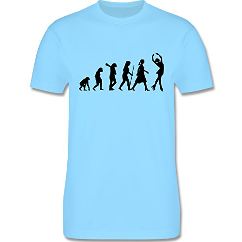 Evolution - Eisläuferin Evolution - Herren Premium T-Shirt Hellblau