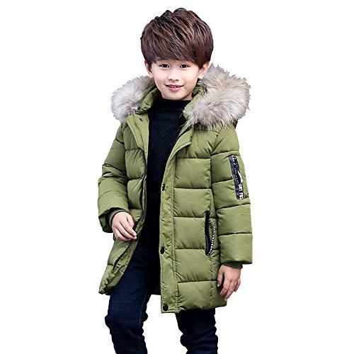 Phorecys - Abrigo de Invierno con Capucha para niño Vert Armé 7-8 Años