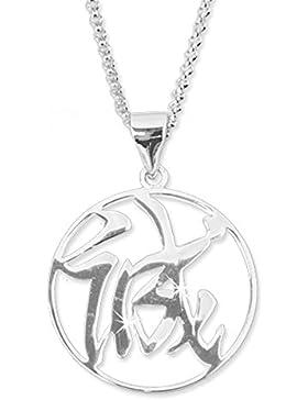 SilberDream Set Kette & Anhänger chinesisches Zeichen Honesty - Ehre / Ehrlichkeit 925 Sterling Silber MXK12
