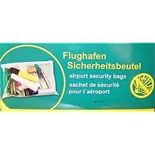 Handgepäck Beutel Zipper Plastikbeutel Flugbeutel 50 + 1 Glasbeutel