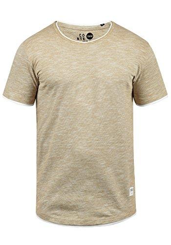 !Solid Rigos Herren T-Shirt Kurzarm Shirt Mit Rundhalsausschnitt Im Double-Layer-Look Aus 100{140811a6175330513a29e758fb126c83aef2f6d95f67bc331601f1285314f10c} Baumwolle, Größe:XL, Farbe:Sand (4073)