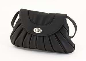 kleine modische Handtasche, Milla Tasche, aus Kunstleder, schwarz