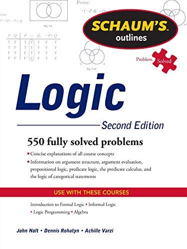 Schaum's outline of logic (Scienze)