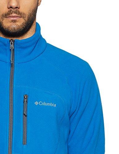 Columbia Herren Fleecejacke, mit durchgehendem Reißverschluss, Fast Trek II Full Zip Fleece, Microfleece Polyester, dunkelblau/dunkelgrau (super blue/graphite), Gr. S, AM3039 - 3