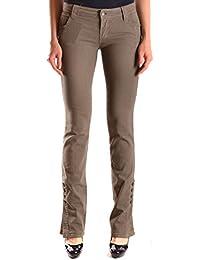 Galliano Damen MCBI130061O Grün Baumwolle Jeans