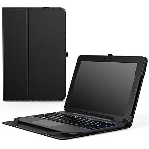 MoKo Etui ASUS Transformer Book T101HA - Etui Fin et Pliable avec Son Dock Clavier pour Tablette ASUS Transformer Book T101HA 10.1 Pouces 2016, Noir