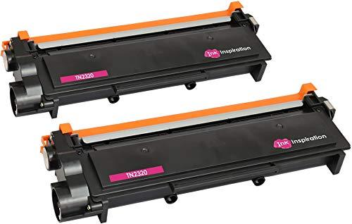 Ink Inspiration' Tn2320 Kit 2 Toner Compatibile per Stampanti Brother Hl-L2300D Hl-L2340Dw Hl-L2360Dn Hl-L2365Dw Dcp-L2500D Dcp-L2520Dw Dcp-L2540Dn Dcp-L2560Dw Mfc-L2700Dw Mfc-L2720Dw Mfc-L2740Dw, Nero / Black