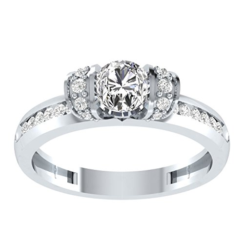 Silvernshine 1.25 Ct Round Cut D/VVS1 Diamond Sterling Silver 925 Solitaire Engagement Ring