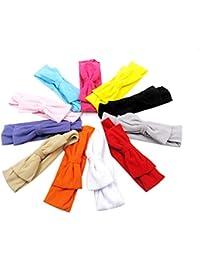 Uesae 10 unids ancha banda elástica venda de pelo banda accesorio de belleza para niña bebé niño