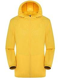 Lanbaosi Moda Hombres chaqueta rompevientos ligero de secado rápido impermeable Protege la piel de verano Escudo