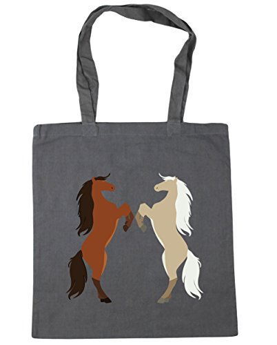 Hippowarehouse ,  Damen Strandtasche, grau, 60918-DTG-TOTE-Graphite grey Equestrian Grooming Tote