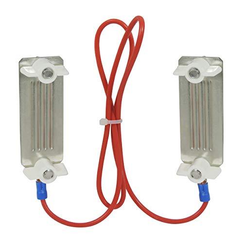 Eider Breitbandverbindungskabel bis 40 mm, mit Flügelmuttern - 60 cm - Hochspannungskabel Zum Verbinden von Weidezaunband - Elektrozaun Verbindungskabel