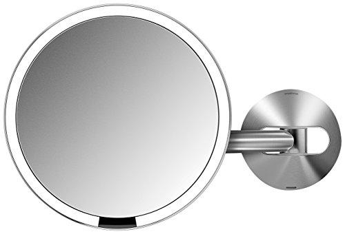 simplehuman ST3002 Sensorspiegel 20 cm mit Wandhalterung, Edelstahl, Silber, 7.9 x 35 cm, 1...