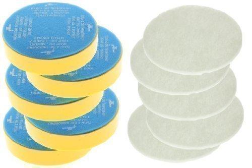 First4spares Waschbar Lebenszeit Vor Motor Top Filter und Mast Filterpads für Dyson DC04 Staubsauger (5 stück Jedem)
