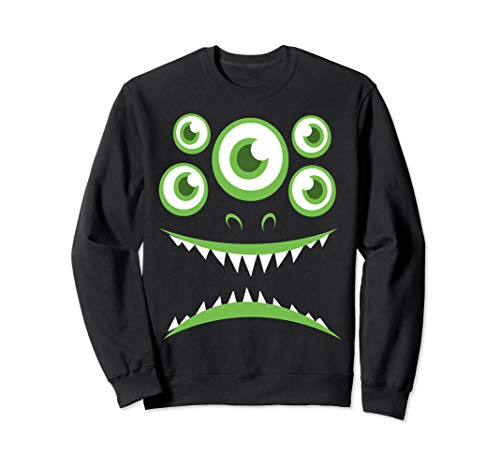 Sweatshirt Monster Kostüm - Halloween Gruseliges Monster Kostüm Sweatshirt