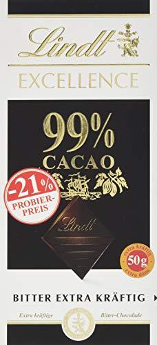 Lindt & Sprüngli Excellence Promotion Tafel, 99% Cacao, glutenfrei, laktosefrei (1 x 50 g)