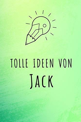 Tolle Ideen von Jack: Kariertes Notizbuch mit 5x5 Karomuster für deinen Vornamen (Mädchen Namens Jack)