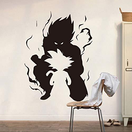 hetingyue Adesivo murale Cartone Animato vivaio Nuvola Nuvola di Pioggia Fumetto Comico Drago Adesivo per Auto 54x41cm Vinile