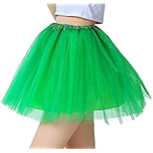7fe0babe442 iLoveCos Années 80 Fluo Néon Tutu de Ballet Filles Bulle Jupe de Danse Mini  Tulle Jupon
