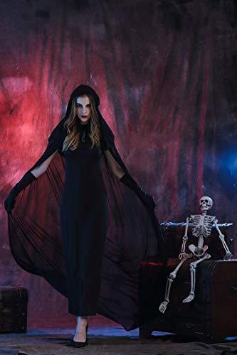 Vampir Kostüm Ball - Memory meteor Vampir Kostüm Ball Halloween Bühnenkostüm, Black Devil Death Vampir Kostüm Ball Halloween Bühnenkostüm,XL