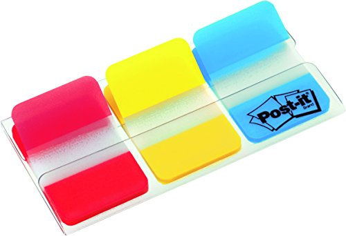 Post-it 686-RYB Index Strong (3x 22 Haftstreifen, 25,4 x 38 mm) rot/gelb/blau