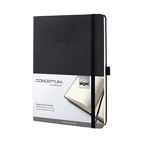 Preisvergleich Produktbild Sigel CO118 Notizbuch im Tablet-Format, liniert, Hardcover, schwarz, CONCEPTUM - weitere Modelle