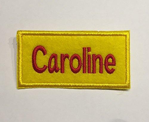 shoperama 2 Broke Girls - Namensschild Caroline oder Max Kellnerin Serie Kostüm Karnevalskostüm Schild, Namen:Caroline