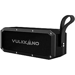 VULKKANO Blast el Altavoz Bluetooth más potente con 30W,Resiste agua y arena, perfecto en playa, piscina, ducha, Altavoz inalámbrico portátil estéreo iPhone, Android, ordenador, TV