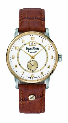Bruno Söhnle Men's Quartz Watch with Atrium Analogue Quartz Leather 17–23055–921