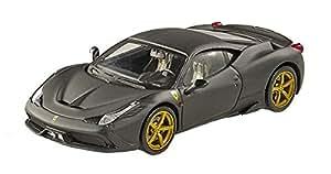 Hot wheels Elite Ferrari 458 Speciale, Matte Black Vehicle (1:43 Scale)
