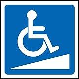 Rollstuhl-Rampen-Logo, selbstklebenderSticker 200mm x 200mm