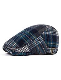NUBAO Gorra De Algodón Escocesa De Los Hombres De La Boina Gorra Escocesa  De Las Mujeres Sombrero Escocés De La Moda Sombrero… f147dda0f5c