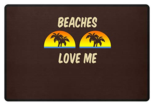 Generic Beaches Love Me - Palmen Sonnenuntergang - Fußmatte