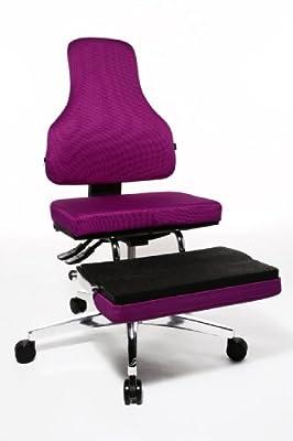 Topstar YO190W77 Bürodrehstuhl Yoga-Sitness 100 / Bezug lila