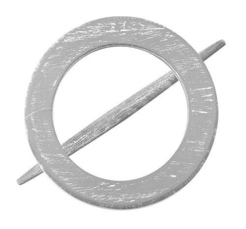 Raffhalter Gardinenspange aus Holz, rund mit separatem Stift, Farbe wählbar (Grau)