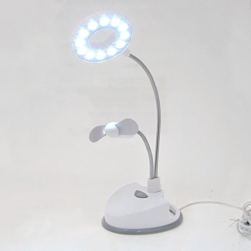 Far Vision 2 in 1 12 Led Desk Table / Study Lamp with Fan Works on Batteries & USB. ON SALE NOW!  available at amazon for Rs.399