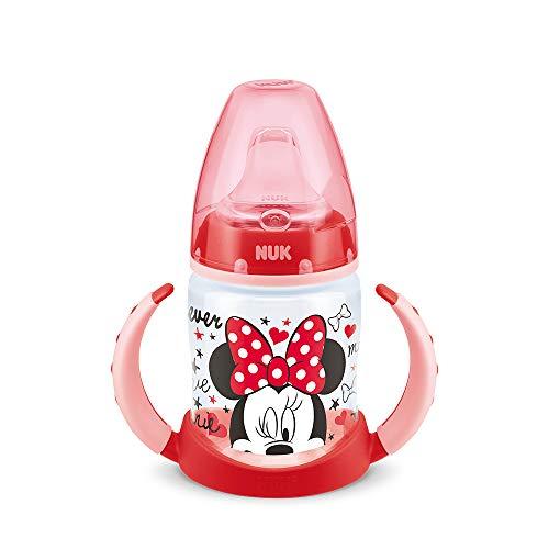 (NUK 10215074 - First Choice Trinklernflasche Disney Mickey Motiv 150 ml aus PP,  mit Soft-Trinktülle aus Silikon, auslaufsicher (Design und Farblich sortiert))