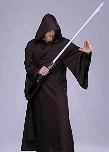 Erwachsenen Jedi-Style Brown Hooded (Brown Kostüme Robe Hooded)