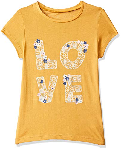 Mothercare Baby Girls' Floral Regular Fit T-Shirt (QB581-1_Yellow_9-12 M)