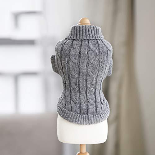 (ABLJ clothes for pets Pet Kleidung Hündchen Kleidung Herbst und Winter Tragen Kleine Hundekatze Haustier Pullover - grau - XL)
